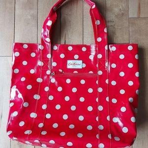 Cath Kidston large polka dot shopping tote